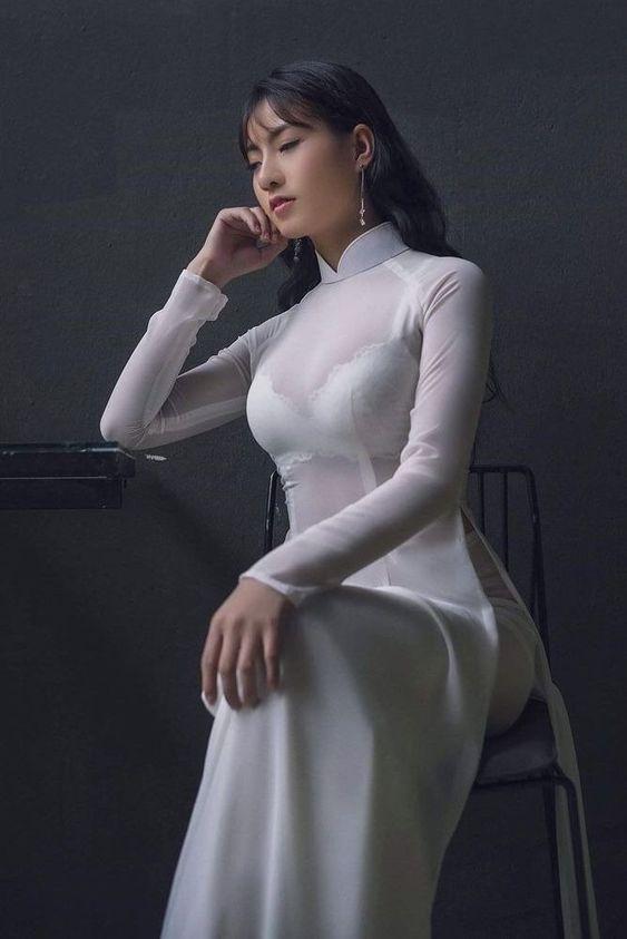 ảnh gái gợi cảm áo dài sexy